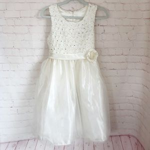 NWT girls flower girl/communion dress ivory 16.5